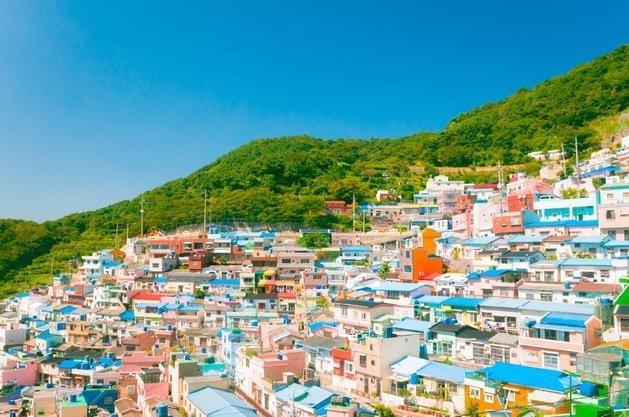 ทัวร์เกาหลี ปูซาน หมู่บ้านวัฒนธรรมคัมชอน ตลาดพื้นเมืองแฮอุนแด 5วัน 3คืน บิน Korean Air
